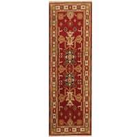 Herat Oriental Indo Hand-knotted Kazak Wool Runner (2'1 x 6'7) - 2'1 x 6'7