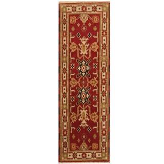 Handmade Herat Oriental Indo Kazak Wool Runner - 2'1 x 6'7 (India)