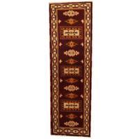 Handmade Herat Oriental Indo Kazak Wool Runner  - 2'1 x 6'6 (India)