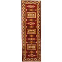 Herat Oriental Indo Hand-knotted Kazak Wool Runner - 2'1 x 6'7