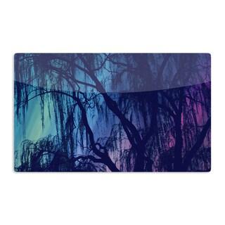 KESS InHouse Robin Dickinson 'Weeping' Purple Tree Artistic Aluminum Magnet