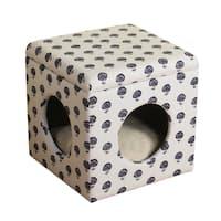 HomePop Hideaway Ottoman Dog/ Cat Bed