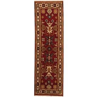 Herat Oriental Indo Hand-knotted Kazak Wool Runner (2'1 x 6'7)