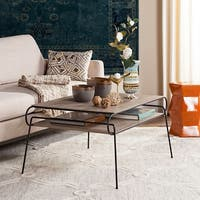 Safavieh Mid-Century Modern Marcello Light Grey / Black Coffee Table