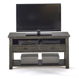 T Distressed Wood Style Entertainment Console