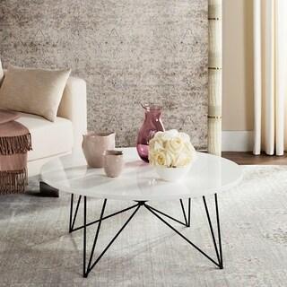 Safavieh Mid-Century Modern Maris Lacquer White / Black Coffee Table