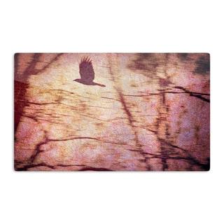 KESS InHouse Robin Dickinson 'Midnight Dreary' Pink Tree Artistic Aluminum Magnet
