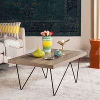 Safavieh Mid-Century Modern Amos Light Grey / Black Coffee Table