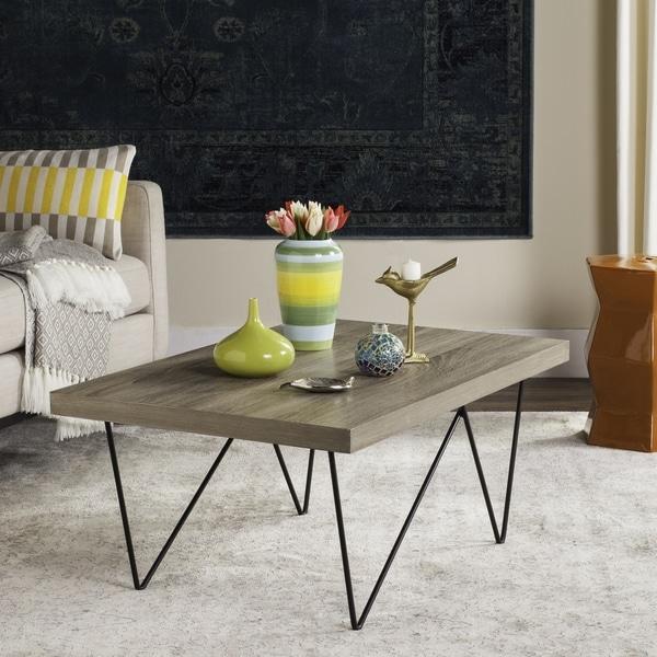 Mid Century Coffee Table Black: Shop Safavieh Mid-Century Modern Amos Light Grey / Black