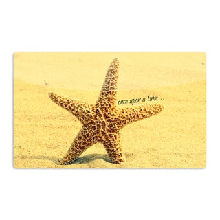 KESS InHouse Robin Dickinson 'Once upon a Time' Starfish Artistic Aluminum Magnet