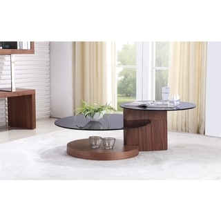 Talenti Casa Club Collection Walnut Veneer Coffee Table