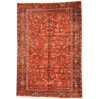Handmade Herat Oriental Persian 1920s Semi-antique Tribal Heriz Wool Rug (Iran) - 7'1 x 10'4