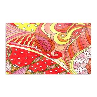 KESS InHouse Rosie Brown 'Swirls' Artistic Aluminum Magnet