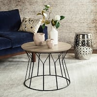 Safavieh Mid-Century Modern Alcott Light Grey / Black End Table