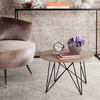 Safavieh Mid-Century Modern Vida Light Grey / Black End Table