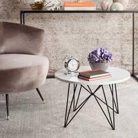 Safavieh Mid-Century Modern Vida Lacquer White / Black End Table
