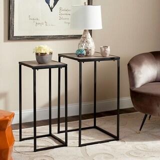 Safavieh Mid-Century Modern Callia Light Grey / Black End Table