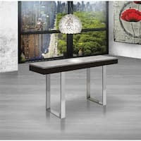 Casabianca Home Glacier Collection Polished Wenge Veneer/Grey Marble Console Table