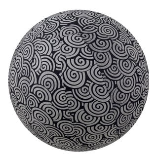 Handmade Yoga Ball Cover Black Swirl Design (Thailand)