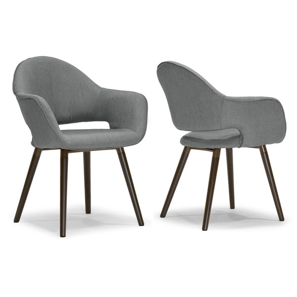 adel modern arm chair dining chair with beech legs set of