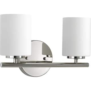 Bathroom light fixtures for less overstock progress lighting p2158 104 replay 2 light bathroom fixture mozeypictures Choice Image
