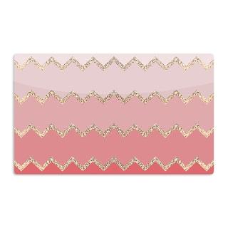 KESS InHouse Monika Strigel 'Avalon Coral Ombre' Pink Chevron Artistic Aluminum Magnet