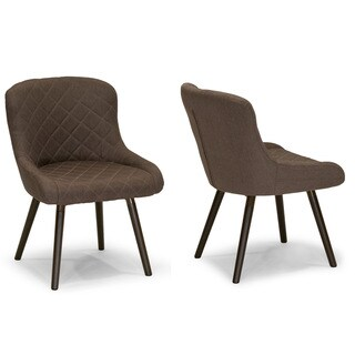 Addie Taupe Fabric Dining Chair with Beech Legs (Set of 2)