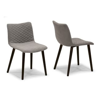 Addison Grey Fabric Dining Chair with Beech Legs (Set of 2)