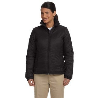 Women's Essential Black Nylon Polyfill Jacket