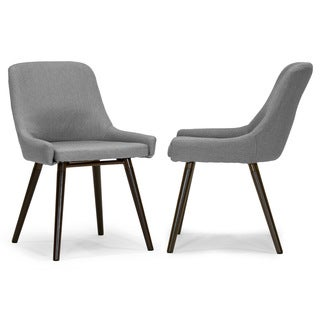 Ade Modern Fabric Dining Chair with Beech Wood Legs (Set of 2)