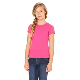 Girl's Pink Cotton Short Sleeve T-shirt