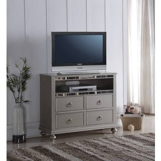 Lyke Home Nevaeh Silver Media Chest