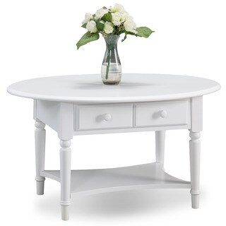 Maison Rouge Rita Oval Coffee Table with Shelf (4 options available)