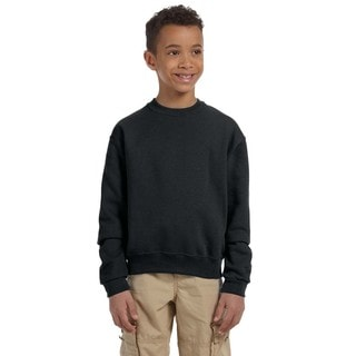 Nublend Boys' Black Polyester and Cotton Crewneck Sweatshirt