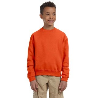 Nublend Boy's Burnt Orange Cotton Crew Neck Sweatshirt