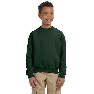 Boy's Nublend Forest Green Crew Neck Sweatshirt