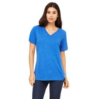 Girl's Missy's Royal Triblend Relaxed Jersey Short-sleeve V-neck T-shirt