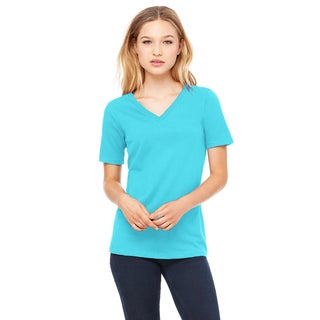 Missy's Girl's Turquoise Relaxed Jersey Short-Sleeve V-Neck T-Shirt