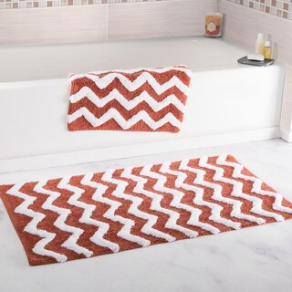 Windsor Home 100-percent Cotton 2-piece Chevron Bathroom Mat Set