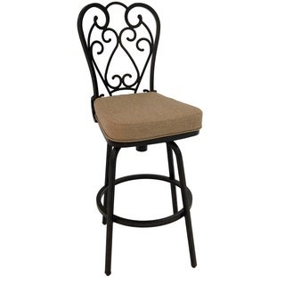 Magnolia Bronze Aluminum/Fabric 30-inch Outdoor Bar Stool