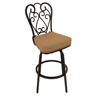 Magnolia Bronze Finish Aluminum Outdoor Bar Stool