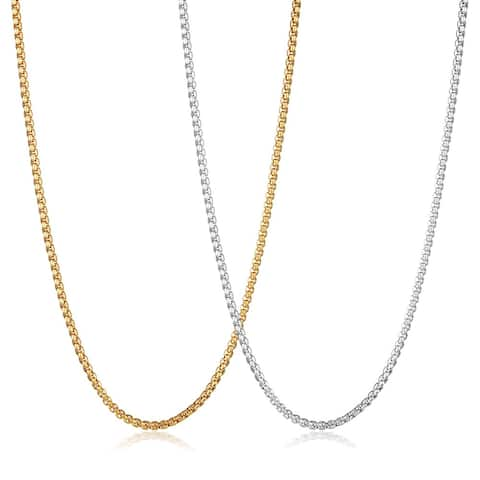 Crucible Stainless Steel Box Chain Necklace - 30 Inches