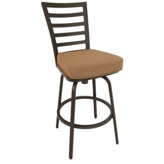 El Pinacate Rust Aluminum 26-inch Outdoor Bar Stool with Fabric Cushion