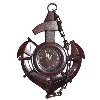 D-Art Mahogany Sea Anchor Clock (Indonesia)