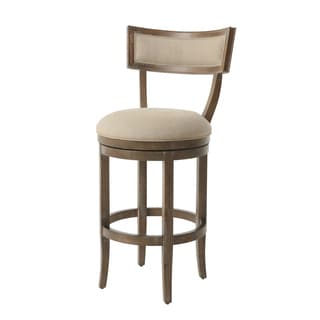 Clarksville Distressed/Natural Wood/Fabric Swivel Stool