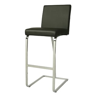 Monaco Chrome Stainless Steel/Faux Leather Stool