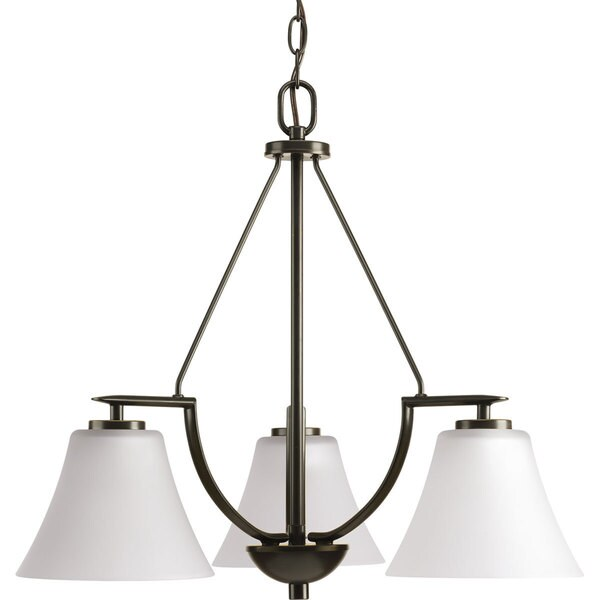 Progress Lighting Bravo Brown Porcelain, Steel 3-light Chandelier