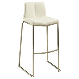 Daqo Stainless Steel and Faux Leather Barstool
