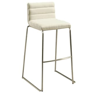 Dominica Off-white/Silver Barstool