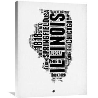 Naxart Studio 'Illinois Word Cloud 2' Stretched Canvas Wall Art